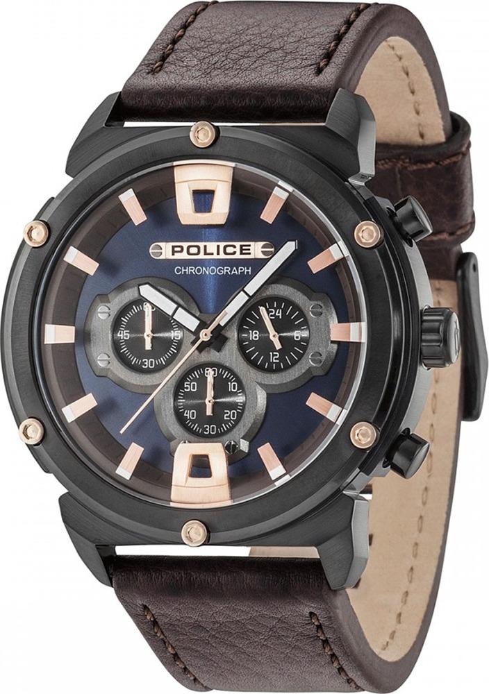 Наручные часы мужские Police, цвет: коричневый. PL.15047JSB/03 все цены