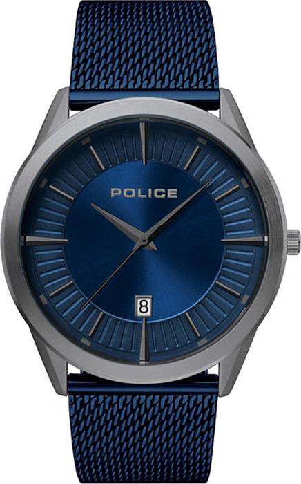 Наручные часы мужские Police, цвет: синий. PL.15305JSU/03MM мужские часы police pl 15305jsu 03mm