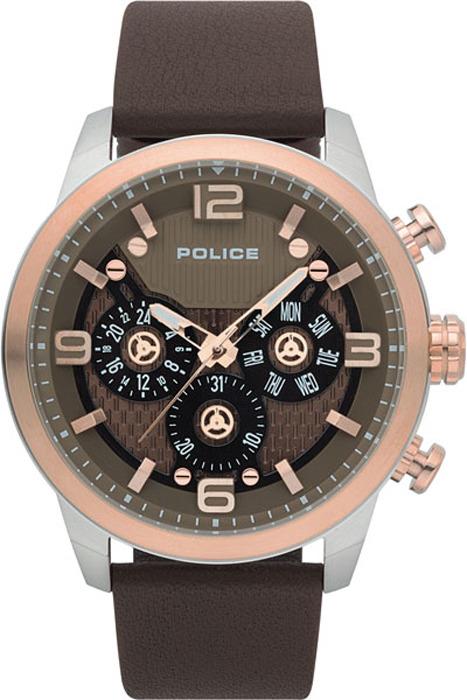 лучшая цена Наручные часы мужские Police, цвет: коричневый. PL.15415JSTR/12