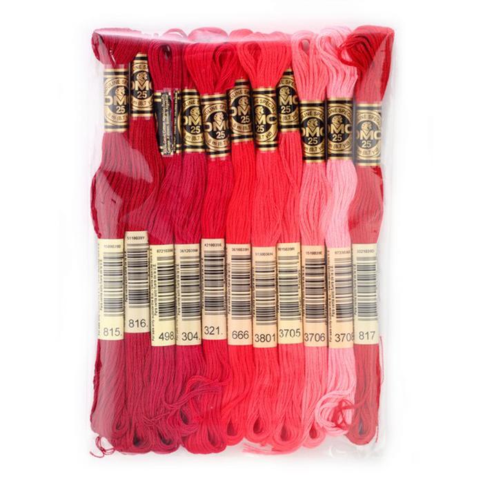 Набор ниток мулине DMC, цвет: разноцветный (№2), 8 м, 11 шт шитье diy dmc вышивка крестом наборы для вышивания комплекты кошка и собака прямых производителей