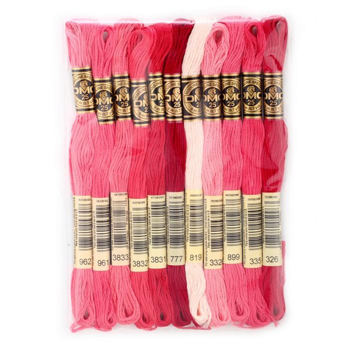 Набор ниток мулине DMC, цвет: разноцветный (№4), 8 м, 11 шт шитье diy dmc вышивка крестом наборы для вышивания комплекты кошка и собака прямых производителей