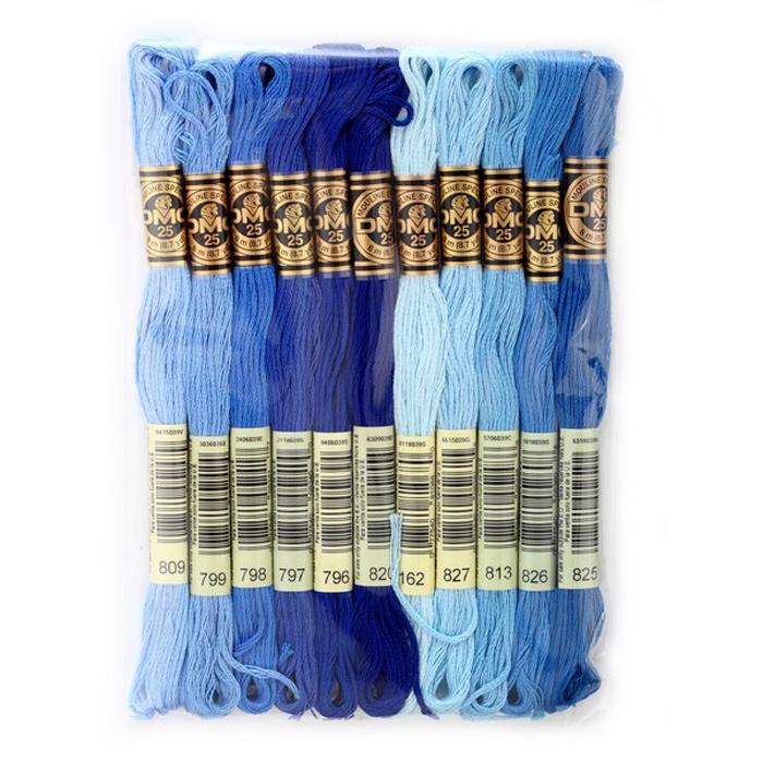 Набор ниток мулине DMC, цвет: разноцветный (№12), 8 м, 11 шт шитье diy dmc вышивка крестом наборы для вышивания комплекты кошка и собака прямых производителей