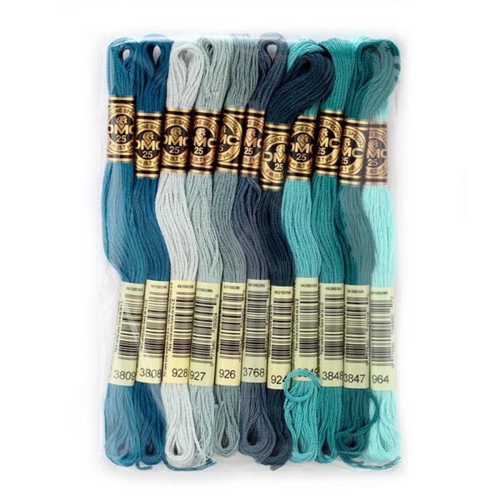 Набор ниток мулине DMC, цвет: разноцветный (№17), 8 м, 11 шт шитье diy dmc вышивка крестом наборы для вышивания комплекты кошка и собака прямых производителей