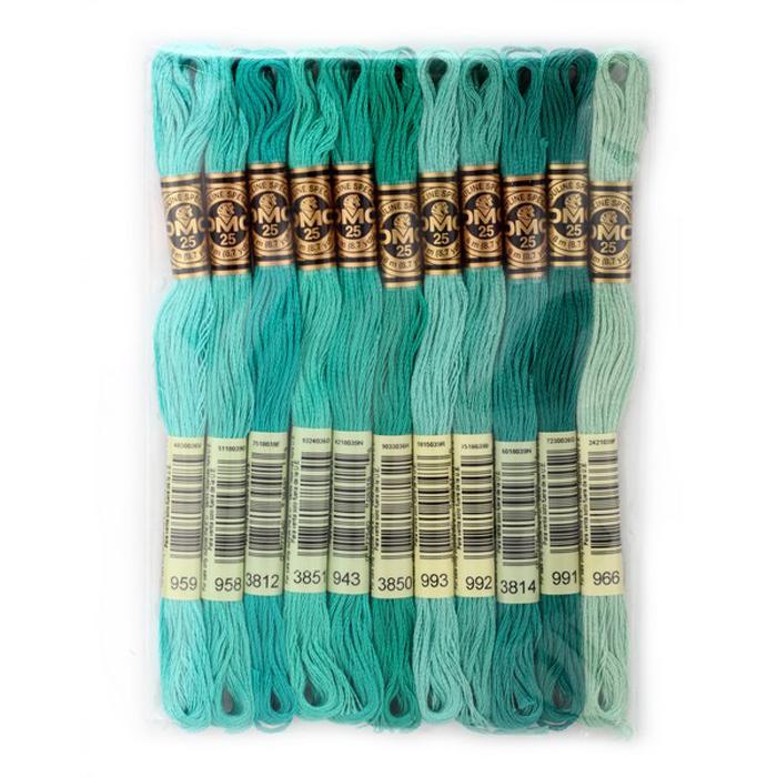 Набор ниток мулине DMC, цвет: разноцветный (№18), 8 м, 11 шт шитье diy dmc вышивка крестом наборы для вышивания комплекты кошка и собака прямых производителей
