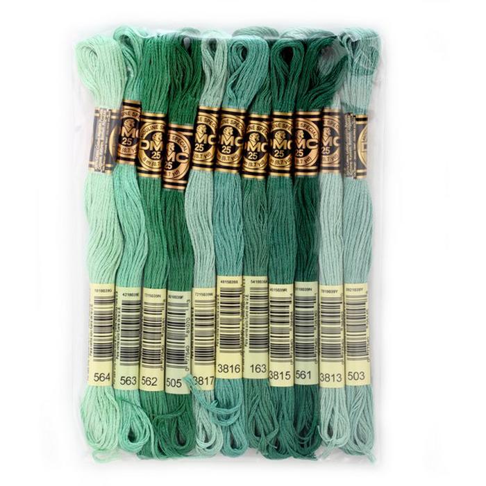 Набор ниток мулине DMC, цвет: разноцветный (№19), 8 м, 11 шт шитье diy dmc вышивка крестом наборы для вышивания комплекты кошка и собака прямых производителей