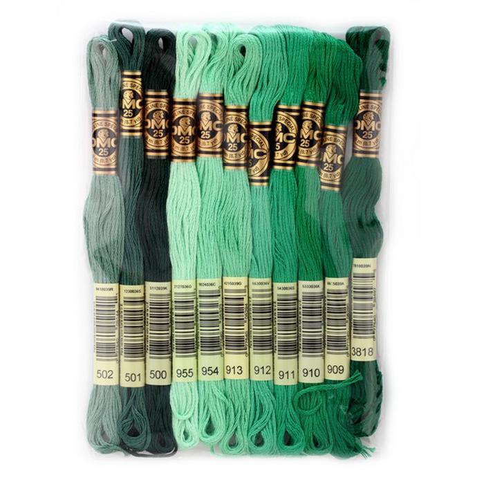 Набор ниток мулине DMC, цвет: разноцветный (№20), 8 м, 11 шт шитье diy dmc вышивка крестом наборы для вышивания комплекты кошка и собака прямых производителей