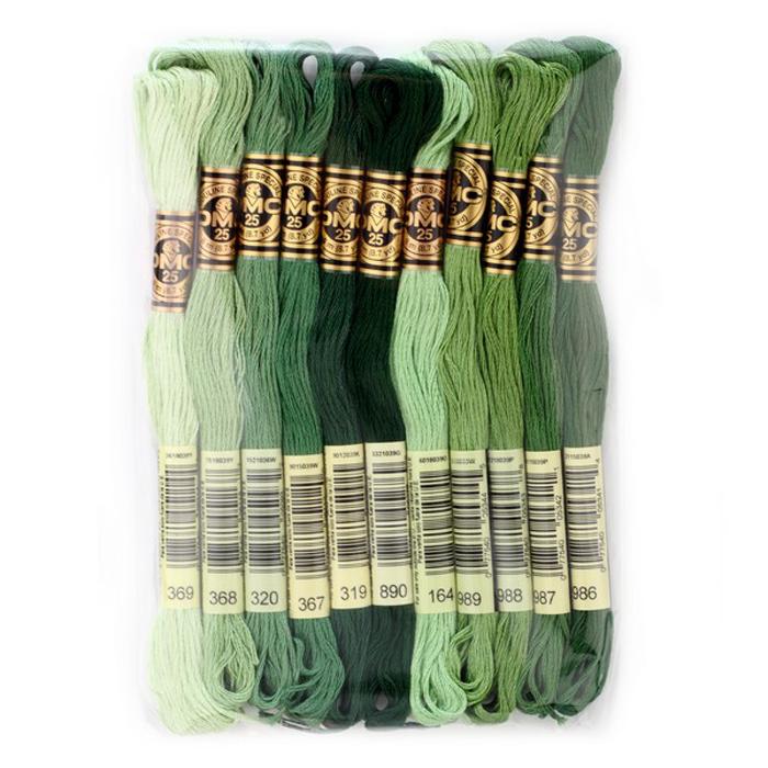 Набор ниток мулине DMC, цвет: разноцветный (№21), 8 м, 11 шт шитье diy dmc вышивка крестом наборы для вышивания комплекты кошка и собака прямых производителей
