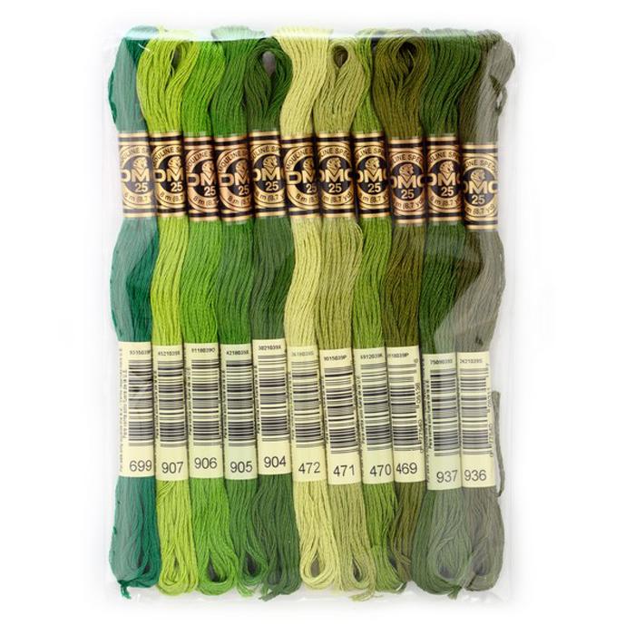 Набор ниток мулине DMC, цвет: разноцветный (№23), 8 м, 11 шт шитье diy dmc вышивка крестом наборы для вышивания комплекты кошка и собака прямых производителей