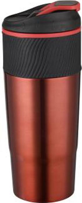 Термокружка Bekker Brightness, цвет: бордовый, 0,45 л. BK-4353