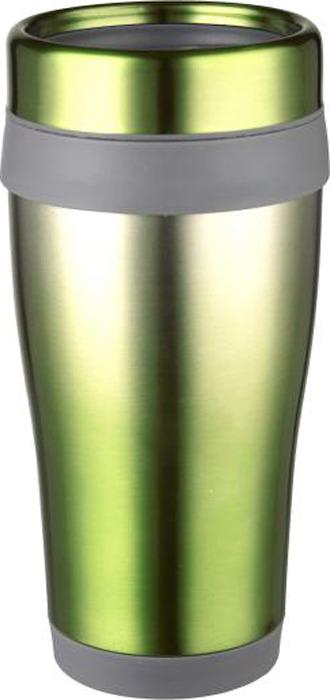 Термокружка Bekker Ombre, цвет: зеленый, серебристый, 0,45 л. BK-4358