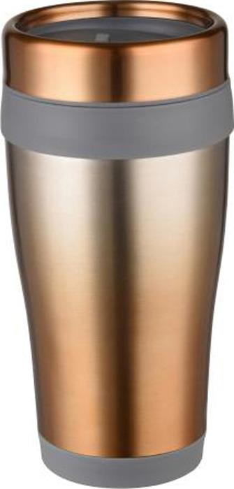 Термокружка Bekker Ombre, цвет: серебристый, золотистый, 0,45 л. BK-4359