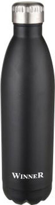 Термос Winner Peace, цвет: черный, серебристый, 0,75 л. WR-8214 цена и фото