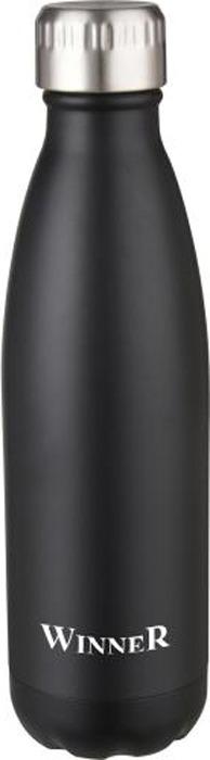 Термос Winner Peace, цвет: черный, серебристый, 0,5 л. WR-8217 цена и фото