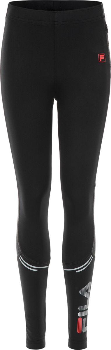 Брюки спортивные для мальчика Fila, цвет: черный. A19AFLPAB04-99. Размер 158A19AFLPAB04-99Тайтсы беговые для мальчиков Boys running tights. Рекомендуем!