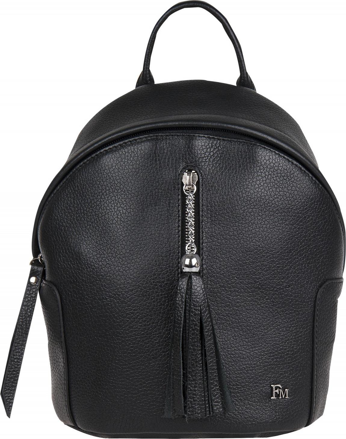 купить Рюкзак женский Franchesco Mariscotti, цвет: черный. 1-4243к-100 по цене 5509 рублей