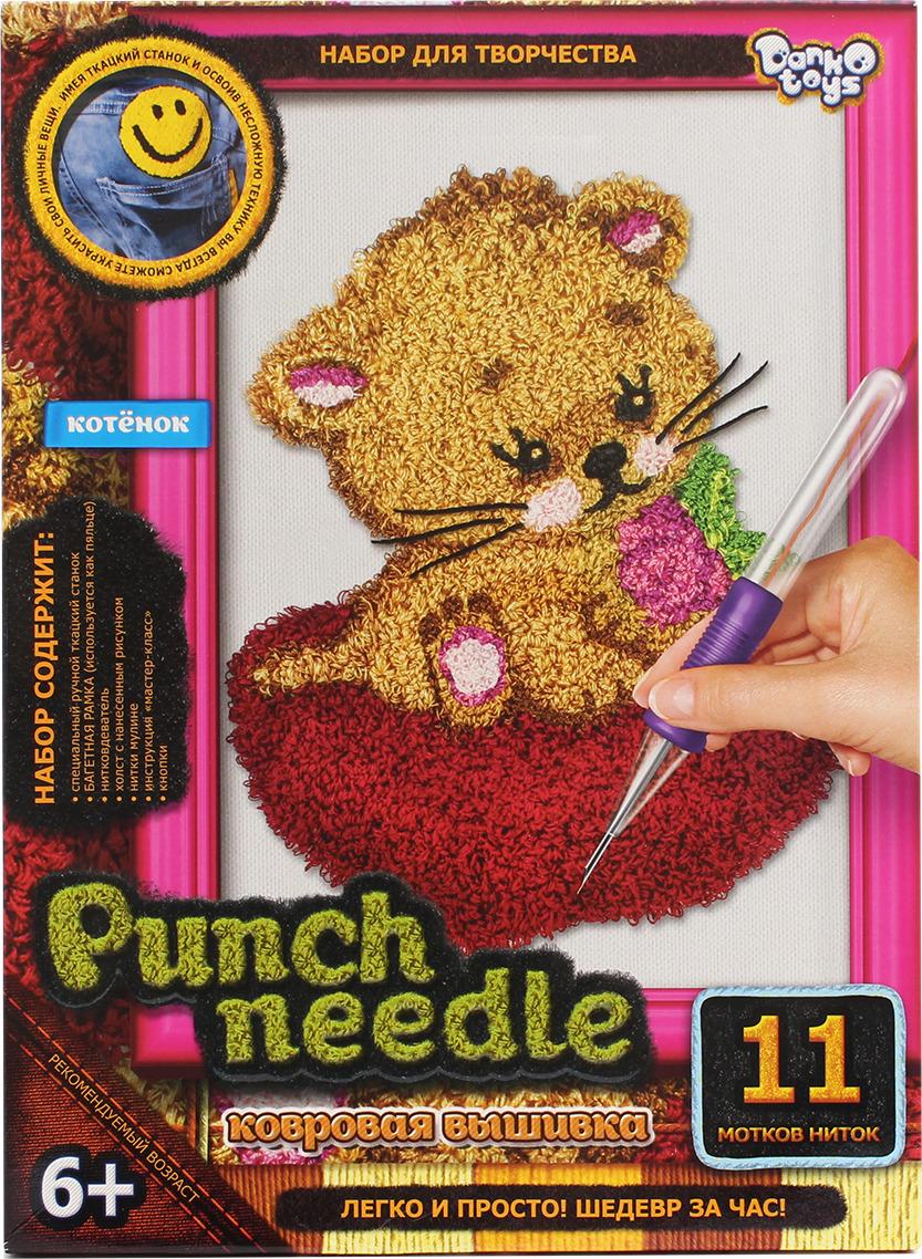 "Набор для творчества Danko Toys ""Punch Needle. Котенок"""