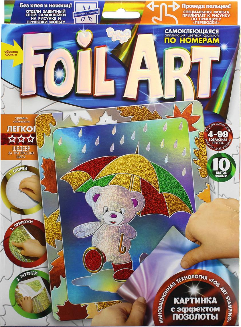 """Аппликация цветной фольгой Danko Toys """"Foil Art. Мишка"""""""