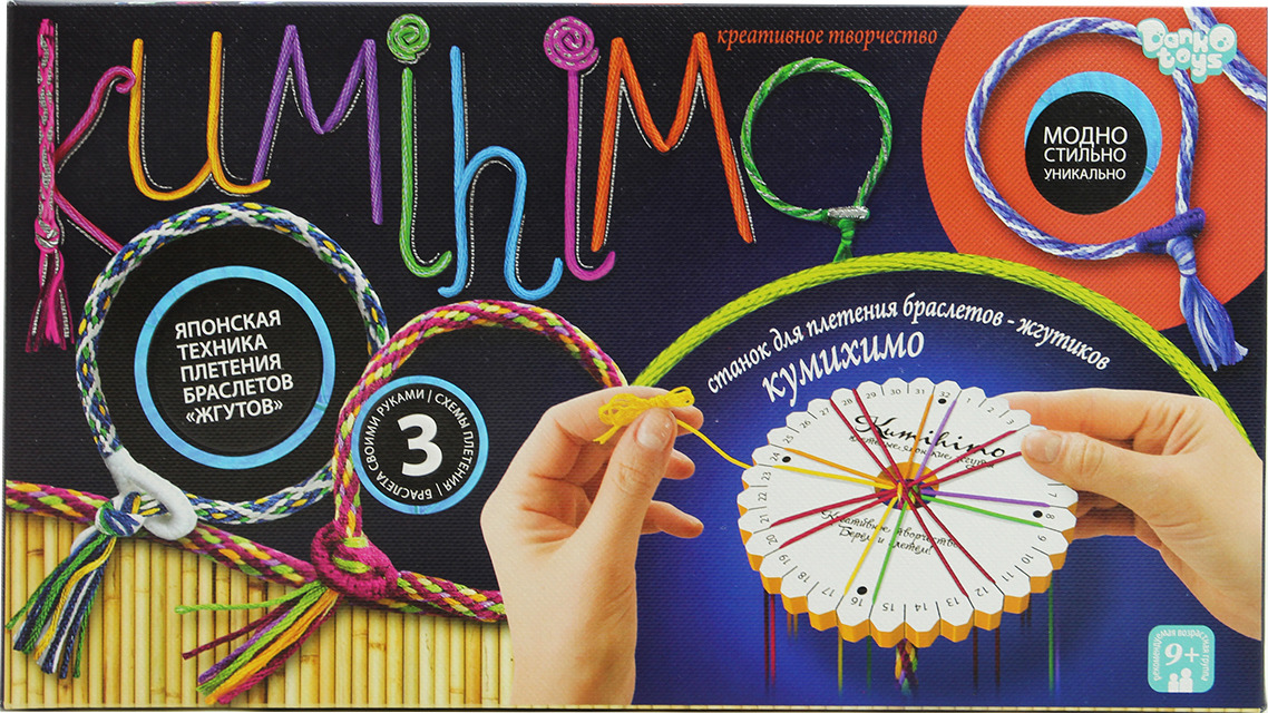 """Набор для творчества Danko Toys """"Кумихимо. Набор 3"""""""