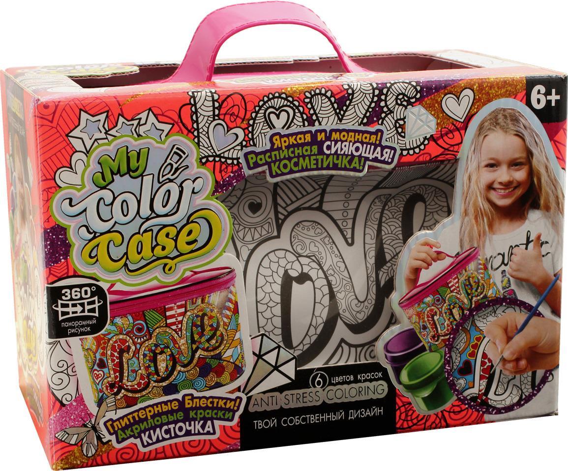 "Набор для творчества Danko Toys ""My Color Case. Косметичка-раскраска. LOVE"""