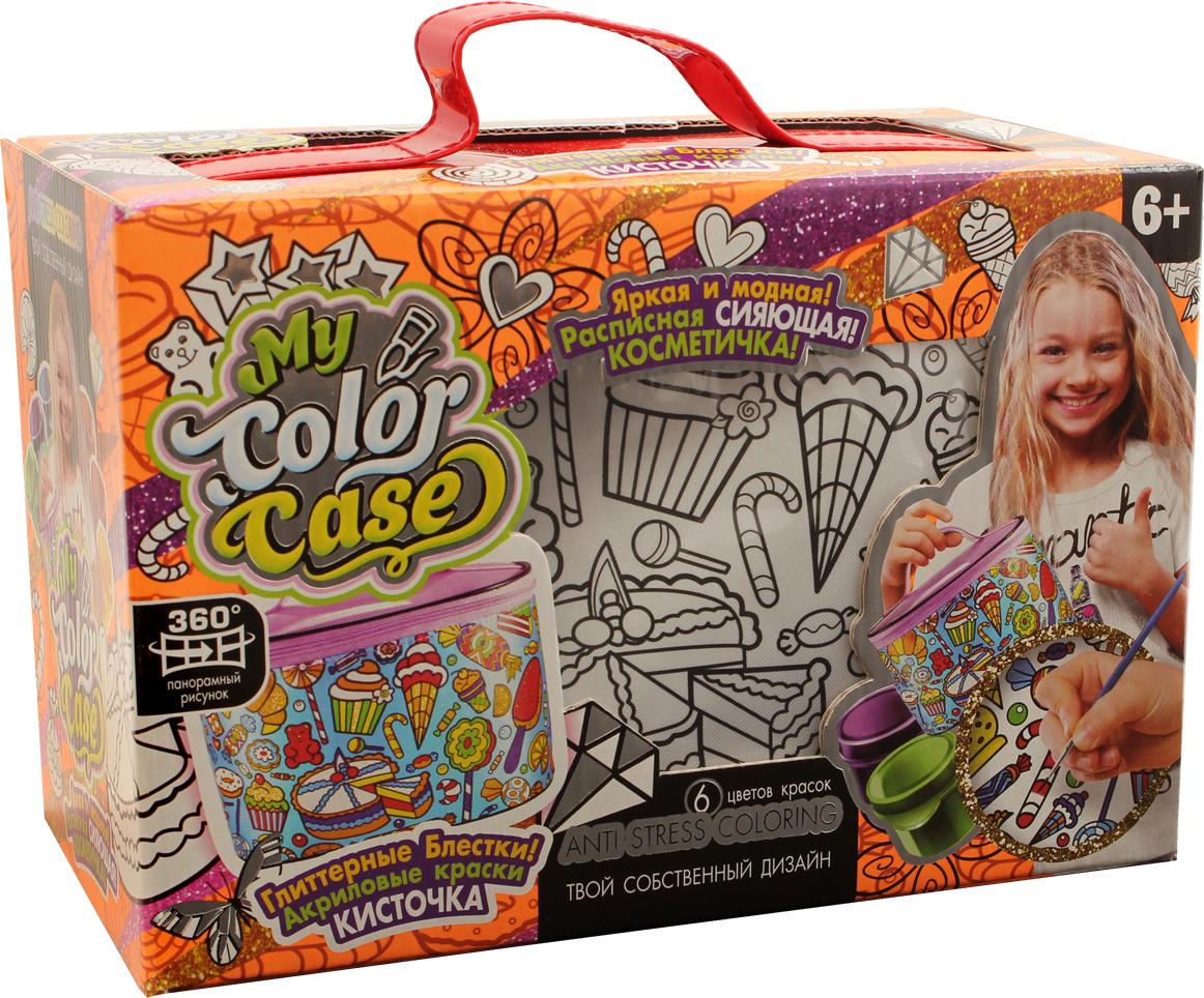 """Набор для творчества Danko Toys """"My Color Case. Косметичка-раскраска Мульт 1. Сладости"""""""