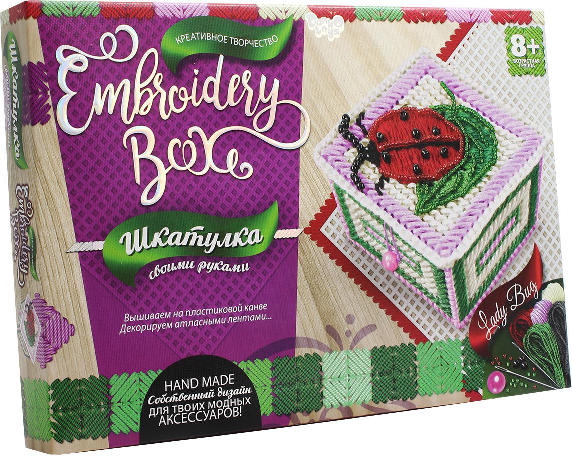 "Набор для творчества Danko Toys ""Embroidery Box. Набор 6. Шкатулка Божья коровка"""