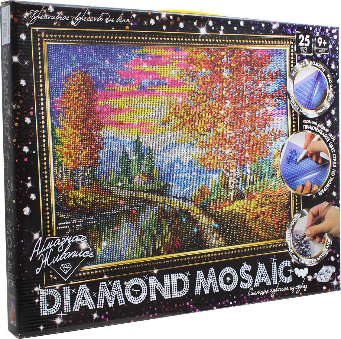 """Набор для творчества Danko Toys """"Diamond Mosaic. Набор 3. Осень"""""""