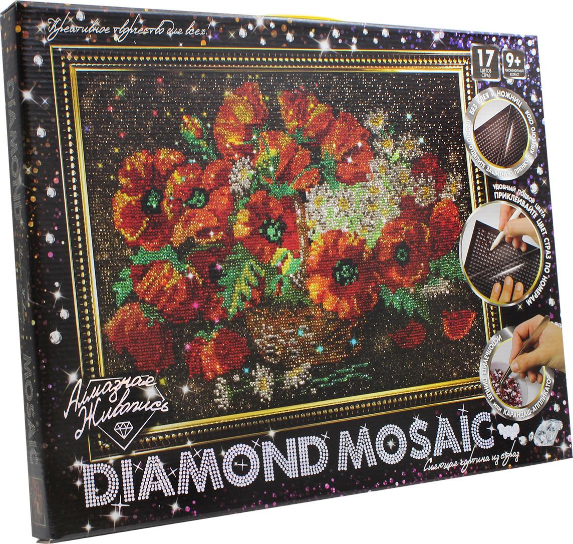 """Набор для творчества Danko Toys """"Diamond Mosaic. Набор 6. Маки"""""""