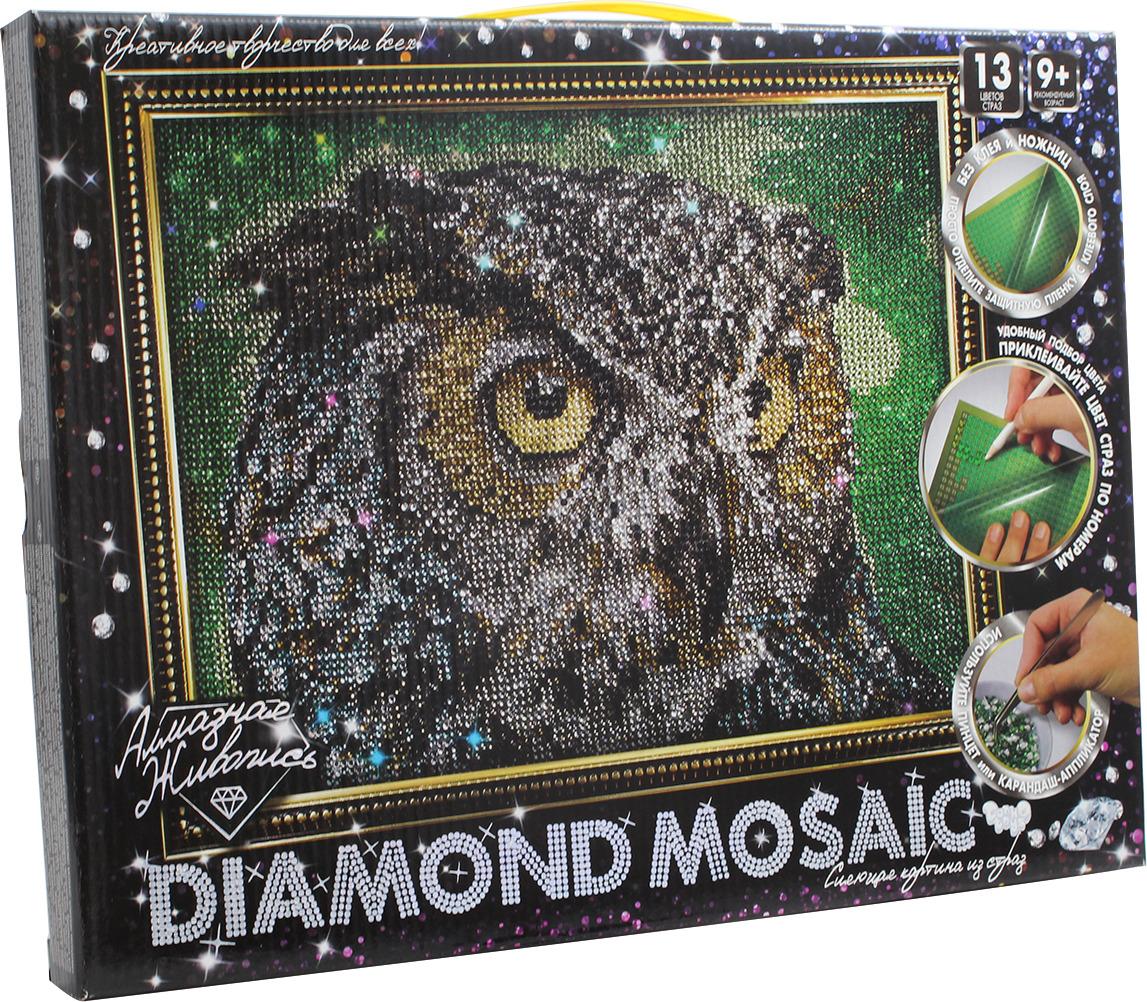 """Набор для творчества Danko Toys """"Diamond Mosaic. Набор 1. Сова"""""""