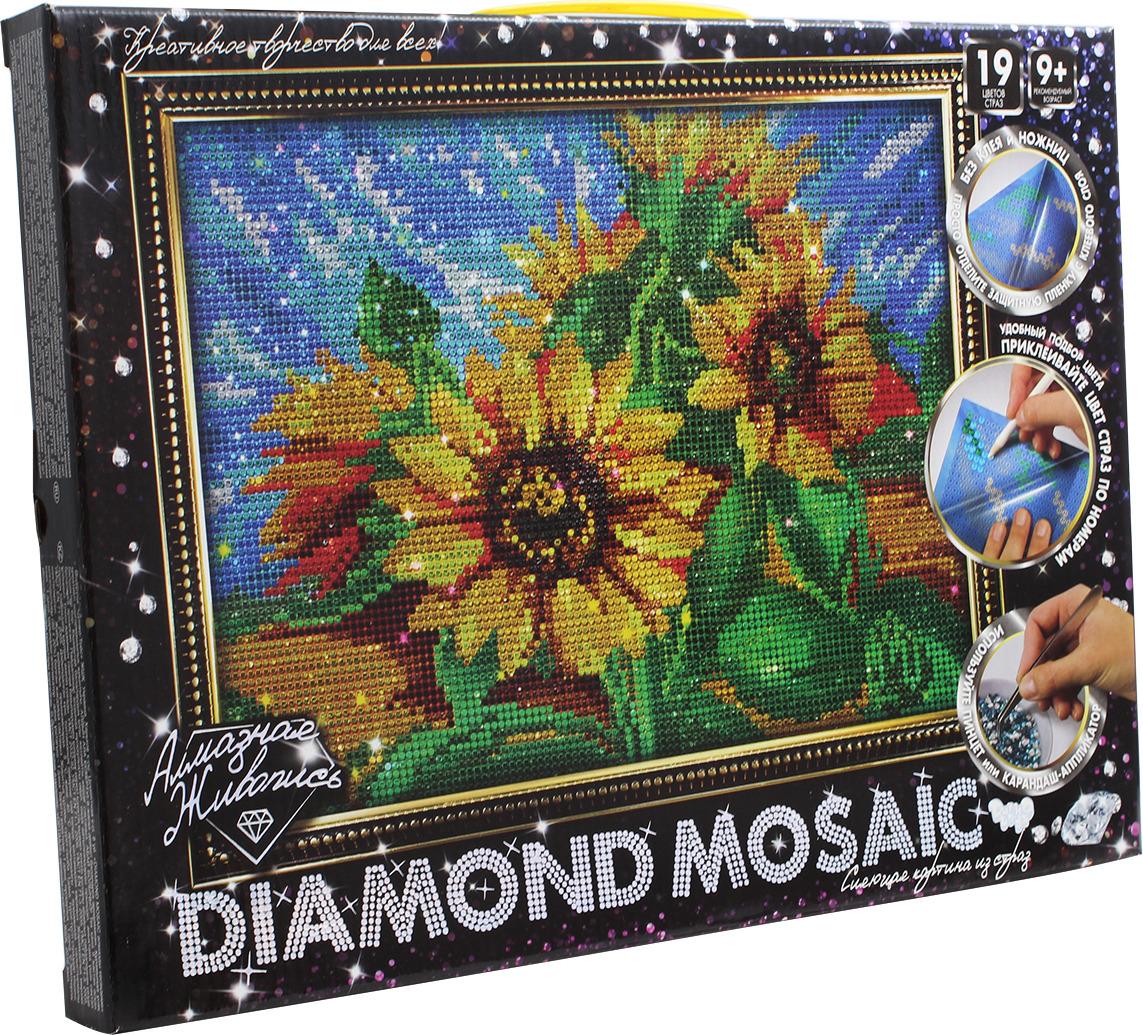 "Набор для творчества Danko Toys ""Diamond Mosaic. Набор 2. Подсолнухи"""