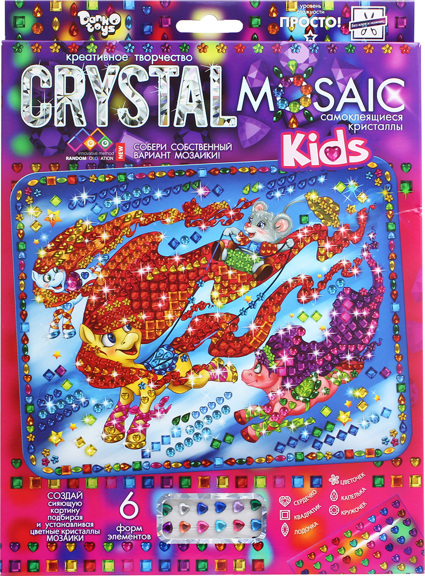 "Набор для создания мозаики Danko Toys ""Crystal Mosaic. KIDs. Набор 3. Пони"""