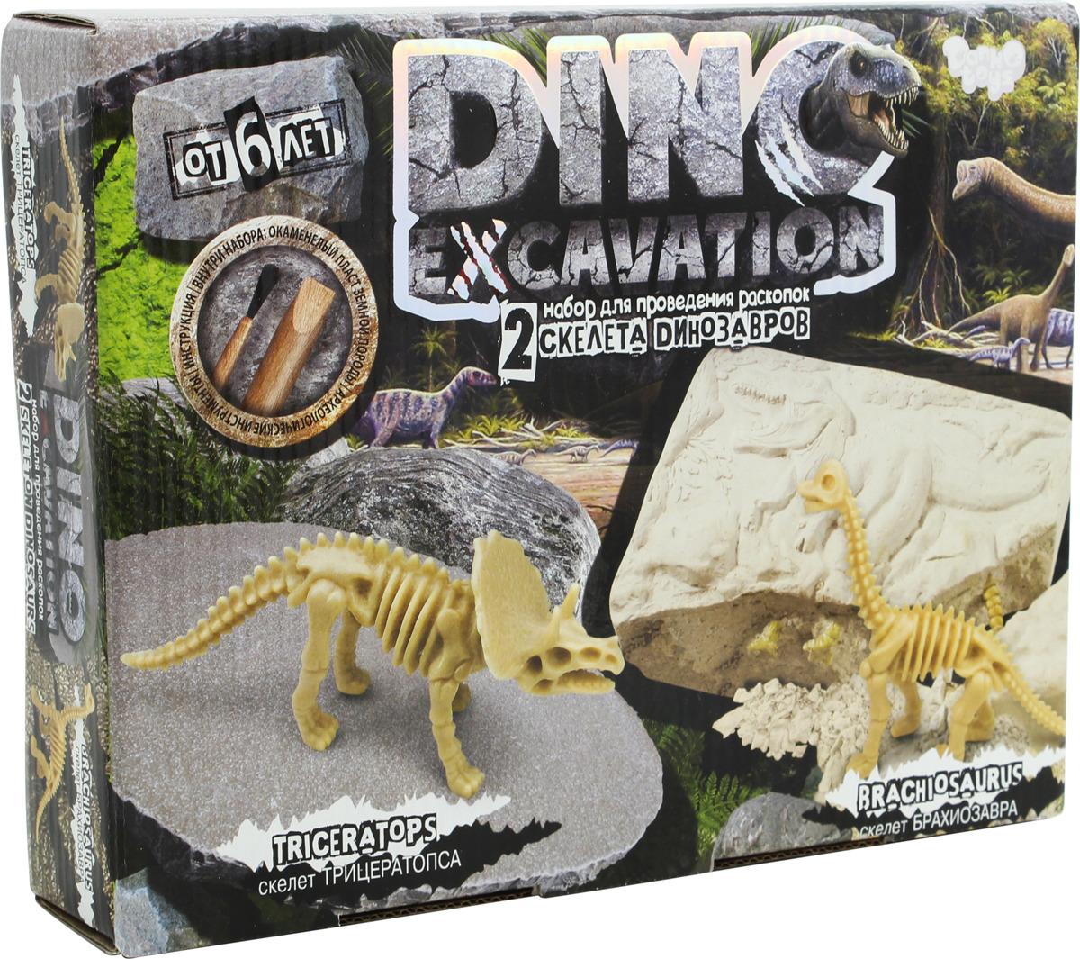 Набор для раскопок Danko Toys Dino Excavation. Динозаврики. Набор 1 набор для раскопок danko toys bugs excavation жуки набор 4