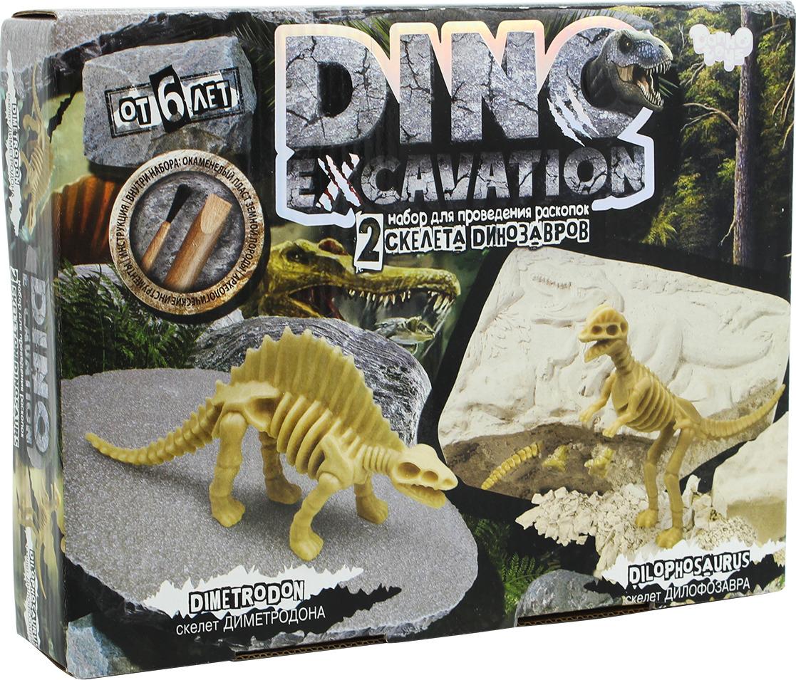 Набор для раскопок Danko Toys Dino Excavation. Динозаврики. Набор 2 DEX-01-02 набор для раскопок danko toys bugs excavation жуки набор 4