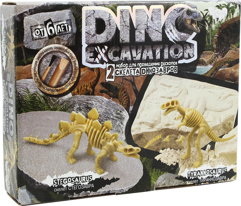 Набор для раскопок Danko Toys Dino Excavation. Динозаврики. Набор 2 DEX-01-03 набор для раскопок danko toys bugs excavation жуки набор 4