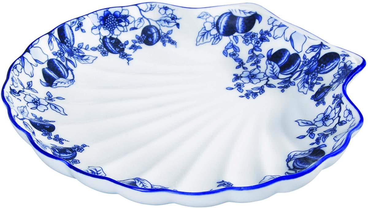 Блюдо Bekker, цвет: белый, синий. BK-7005