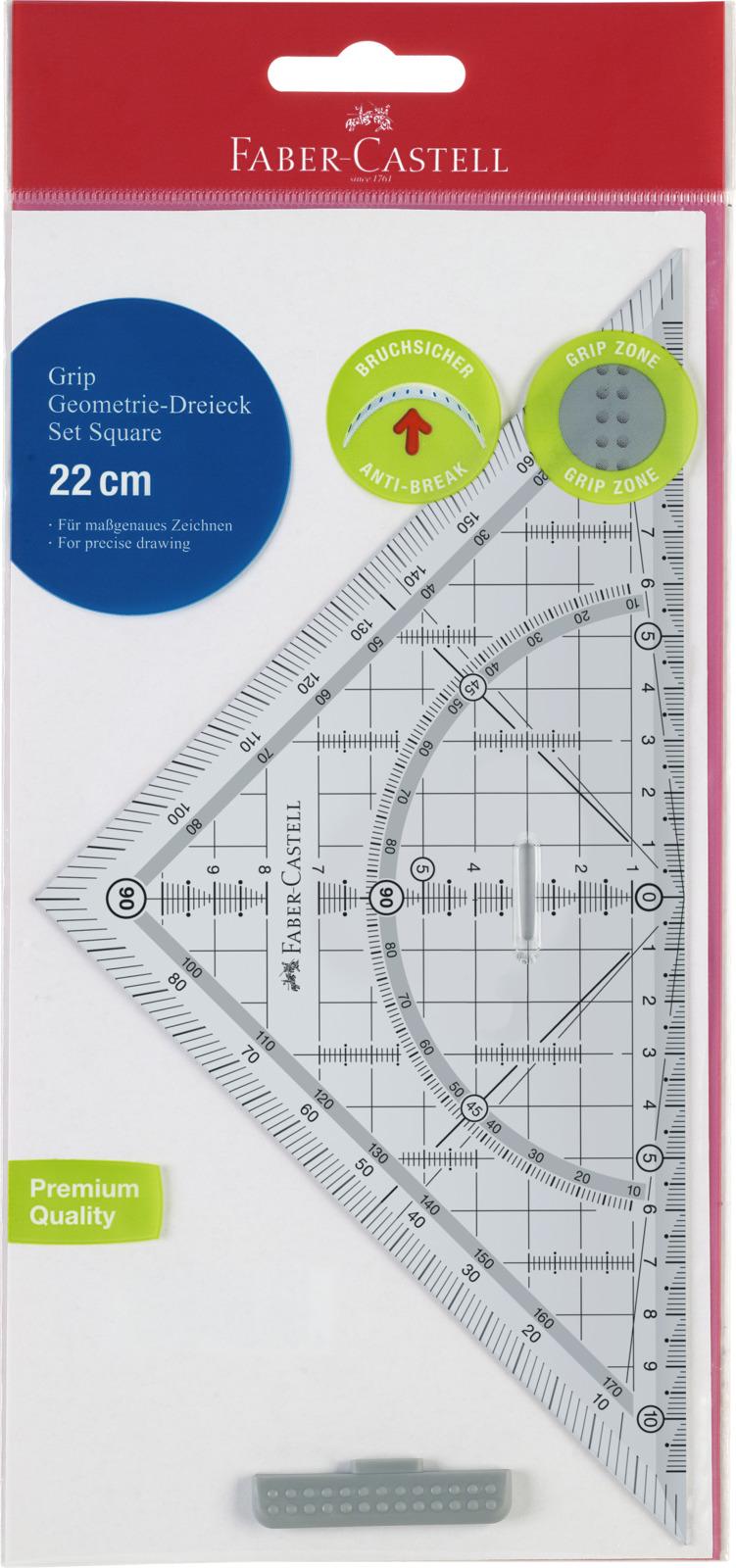 Линейка треугольная Faber-Castell, цвет: прозрачный. 171010 линейка треугольная 6 дюймов aurora au 609