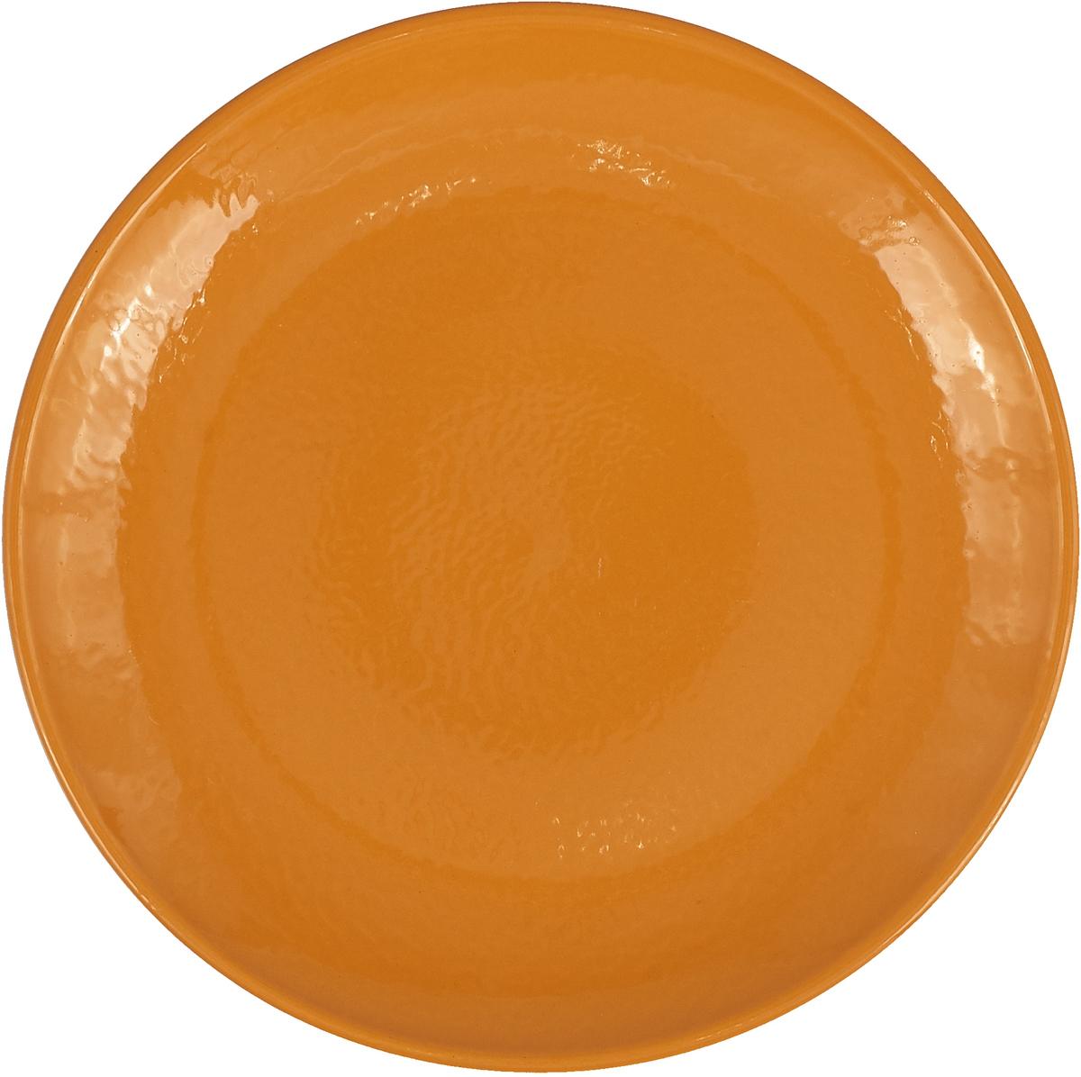 """Тарелка Борисовская керамика """"Радуга"""", цвет: оранжевый, диаметр 23 см. РАД14458120"""