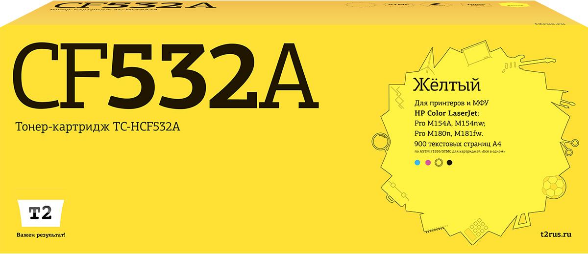 Картридж T2 TC-HCF532A, желтый, для лазерного принтера