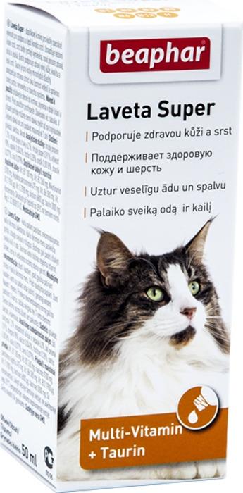 Витамины для кошек Beaphar Laveta Super, 50 мл цена
