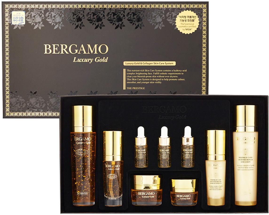 Набор средств для интенсивного восстановления кожи Bergamo, с золотом