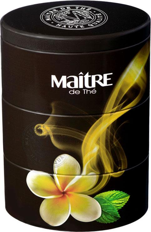 Maitre чай зеленый золотой цветок, 105 г соннентор чай зеленый отборный китайский 100г