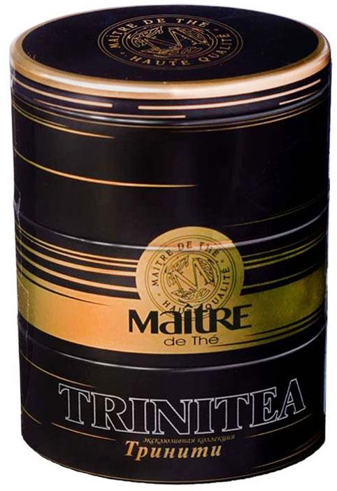 Maitre чай черный тринити, 105 г maitre имбирный пряник черный листовой чай 90 г