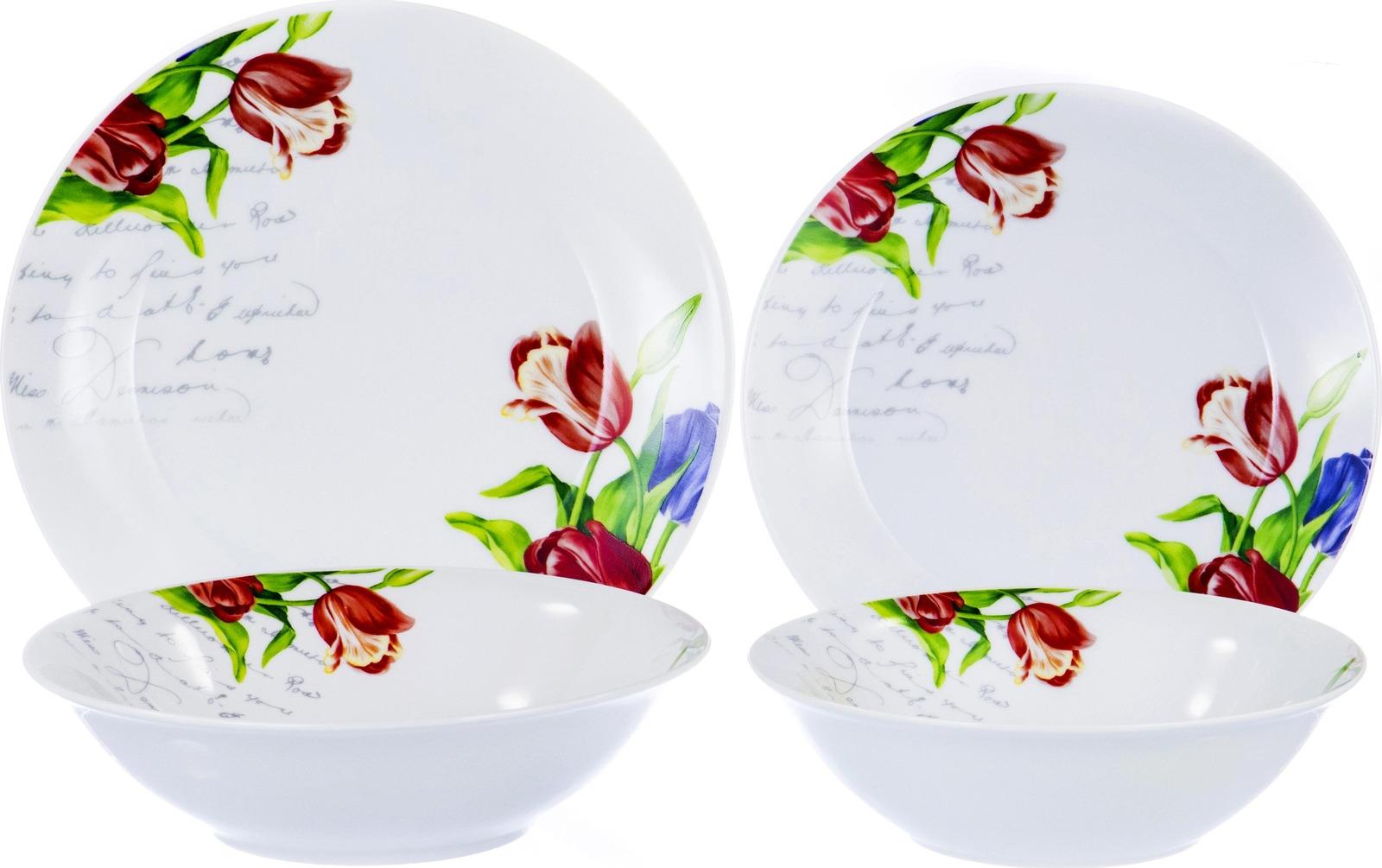 Набор столовой посуды Olaff Феникс, 103-02014, разноцветный, 19 предметов набор столовой посуды olaff красные цветы 19 предметов