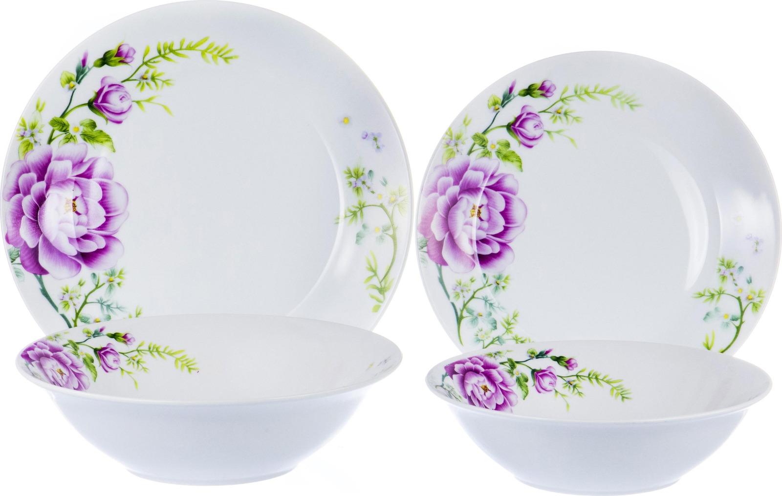 Набор столовой посуды Olaff Феникс, 103-02035, разноцветный, 19 предметов набор столовой посуды olaff красные цветы 19 предметов