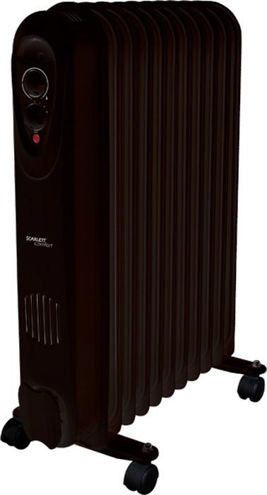 Масляный радиатор Scarlett SC 21.2311 S3B, Black масляный радиатор scarlett sc 21 2009 s3b black