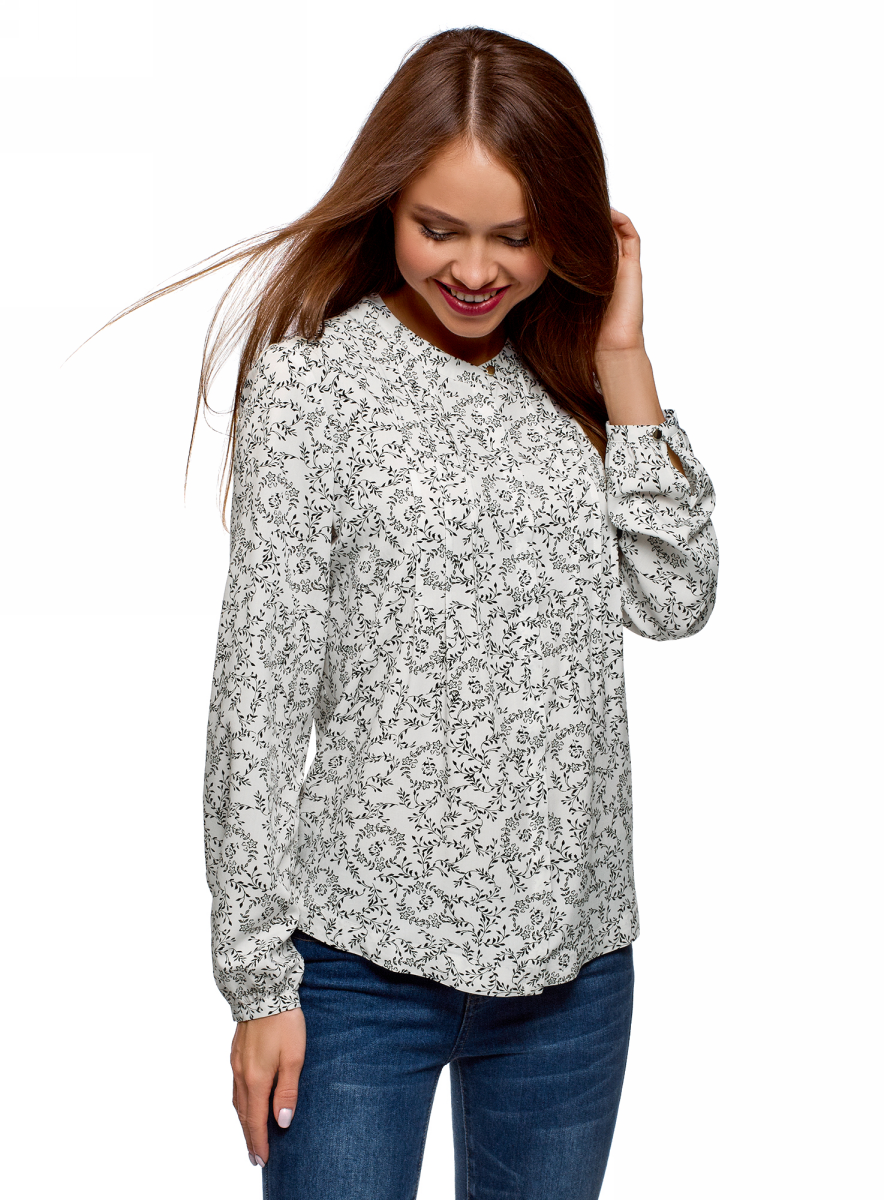 Блузка oodji блузка женская oodji collection цвет кремовый желтый 21411113b 26346 3052f размер 44 50 170