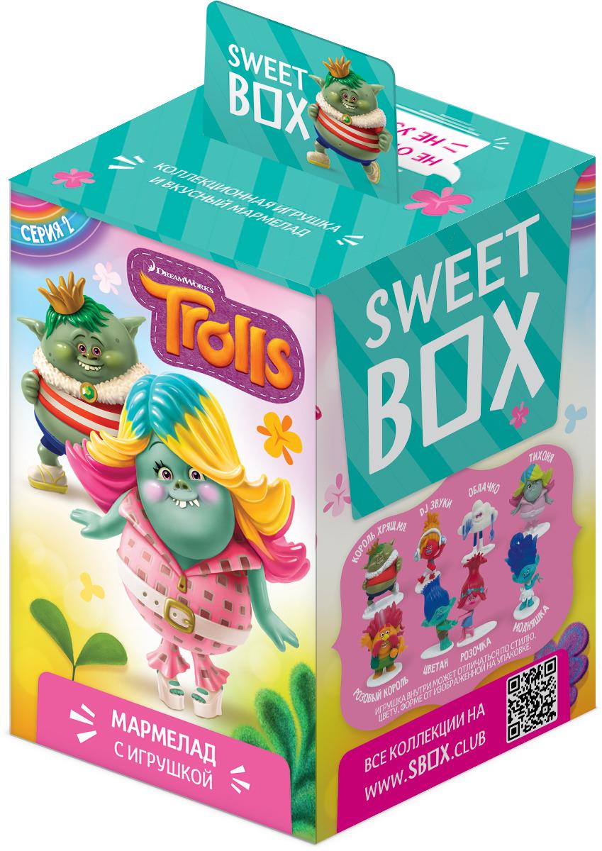цена на Sweet Box Тролли мармелад с игрушкой, 10 г