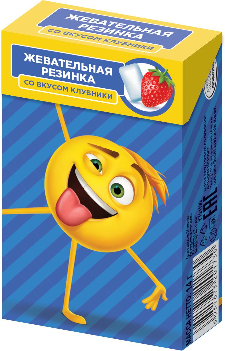 Жевательная резинка со вкусом клубники Конфитрейд Emojii, 14 г жевательная резинка конфитрейд робокар поли со вкусом мяты 24 шт по 14 г