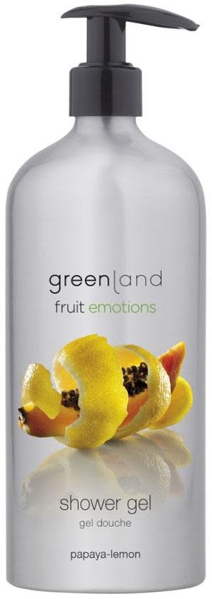 Гель для душа Greenland папайя-лимон, 600 мл