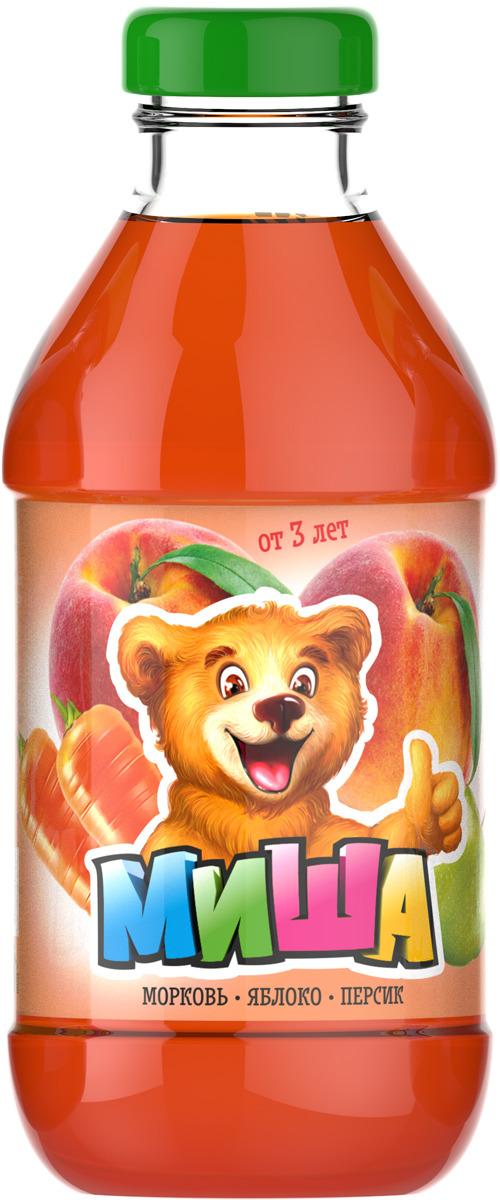 Миша Нектар Морковь-яблоко-персик, 0,33 л миша нектар морковь яблоко 0 33 л
