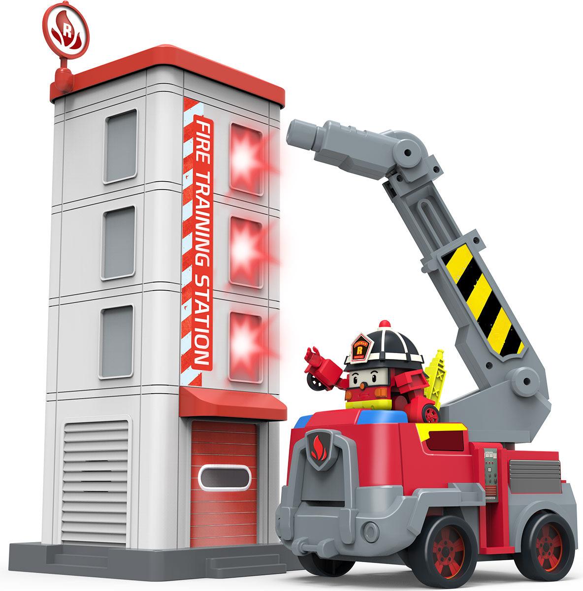Игровой набор Robocar Poli Пожарная станция с фигуркой Рой robocar poli игровой набор перерабатывающая станция с фигуркой